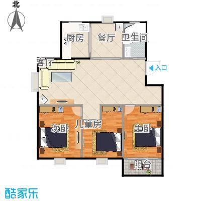 幸福家园115方三室两厅