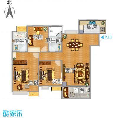 九龙仓玺园139方3室2厅2卫1厨