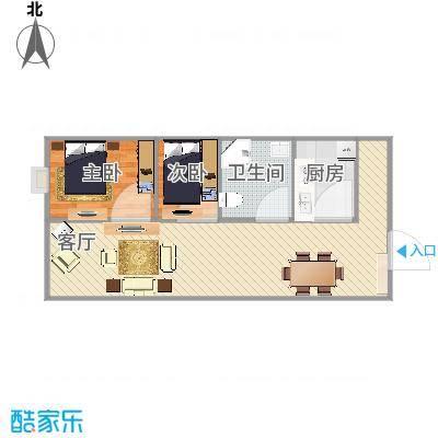 60方两室一厅