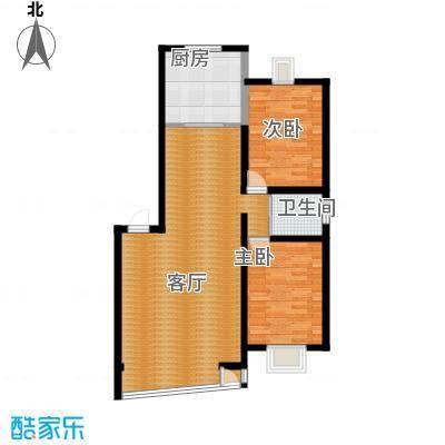 高新花园户型2室2厅1卫