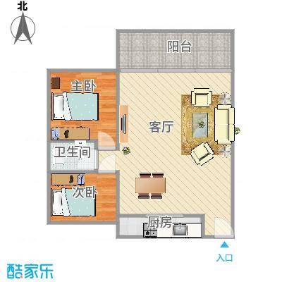 雍景城两房两厅
