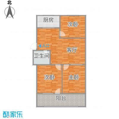 102方三室两厅(明窗博古架)