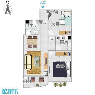 金裕花园85平两室一厅