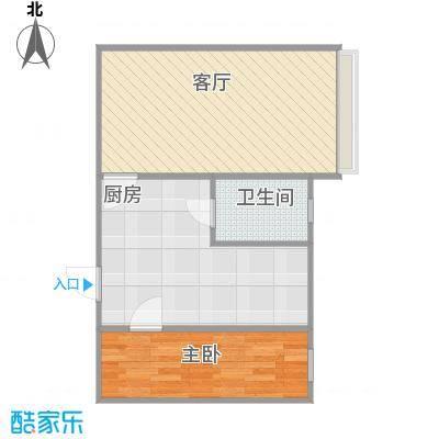 模式口A1户型两室一厅11