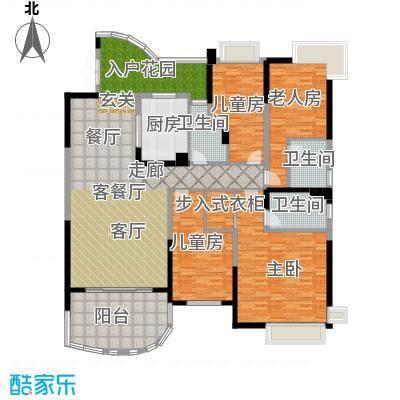 广州碧桂园城市花园190.00㎡4房2厅户型4室2厅
