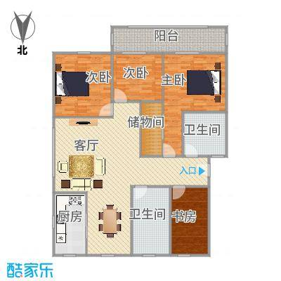 翠苑小区四室二厅158方二层