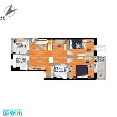满园里的93平二室一厅户型图