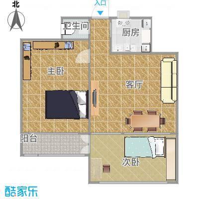 90平方2室一厅