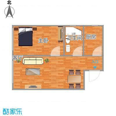 63平一室一厅
