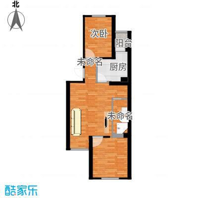 怡海花园66m2两室一厅户型图