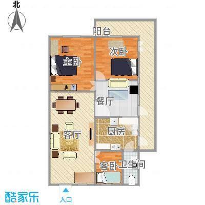 100方三室两厅