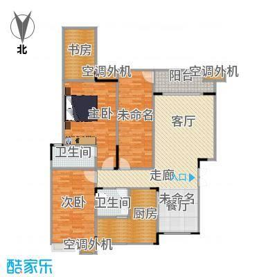 福江・名城名城104.94㎡一期2号楼1单元1层1号房3室户型 - 副本