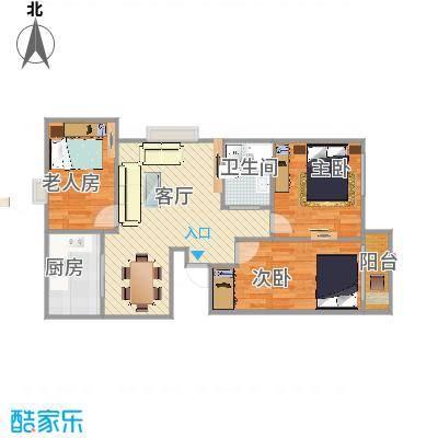 京城国际113方三室两厅