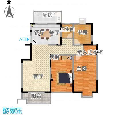 王子公馆114.43㎡F户型2室1厅2卫 - 副本
