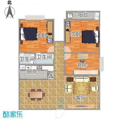 三房两厅两卫一厨一阳台