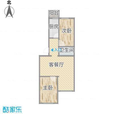 两室一厅户型图1