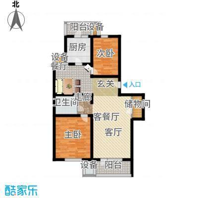 燕宇艺术城92.47㎡户型 - 副本