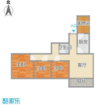 慧忠北里218楼三居户型图