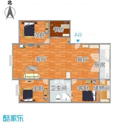 3室两厅1卫1厨