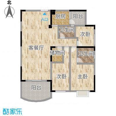 百合苑7号02房现户型结构图