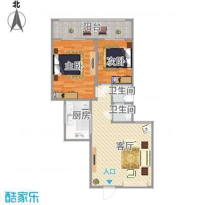 咸阳世纪锦城的户型图高层2单元