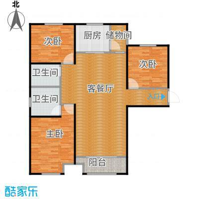 中海外滩133.00㎡B户型3室2厅2卫 - 副本