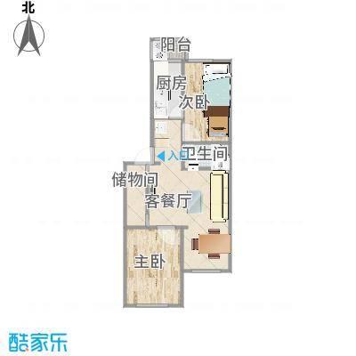 两室一厅尺寸图 - 副本