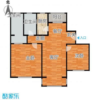 张江汤臣豪园二房二厅二卫-105平方米