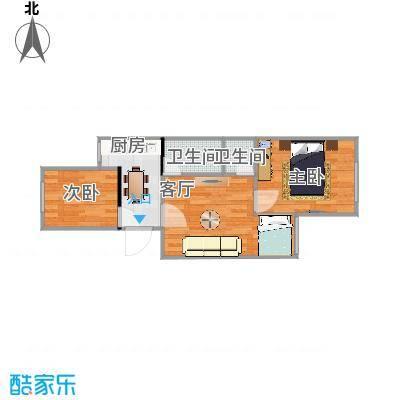 西井三区61方A1户型两室一厅