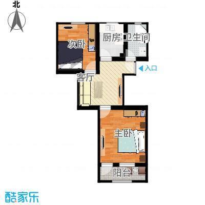 59平2室一厅
