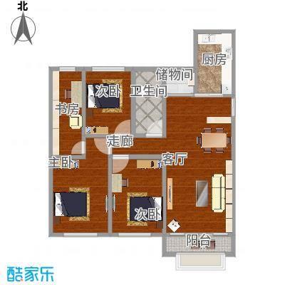 华侨城140平方三居室