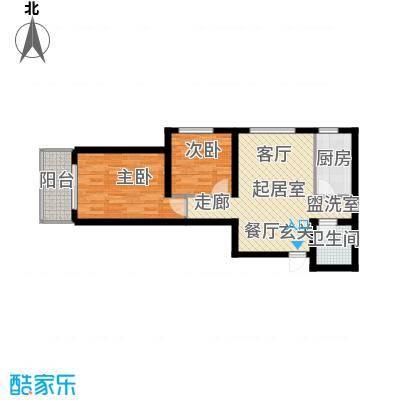 兰亭书院77.30㎡8号楼C户型2室2厅1卫 - 副本