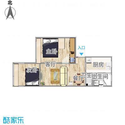 一室一厅55.58_设计二