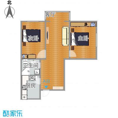天津富力桃园户型2室1卫1厨 - 副本