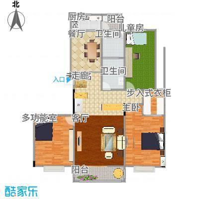 凤凰花园120方三室两厅两卫