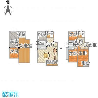 城南公馆300方复式户型