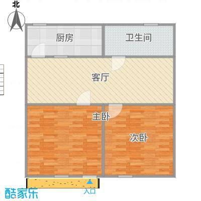 74平俩房一厅