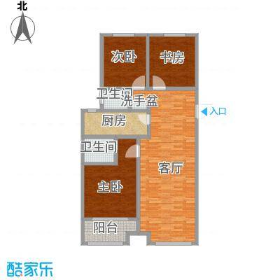 御华园122平3室2厅2卫无家具