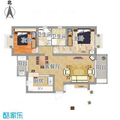 好日子大家园套内89.4P三房二厅豪华打造Mediterraneum家居风小 - 副本