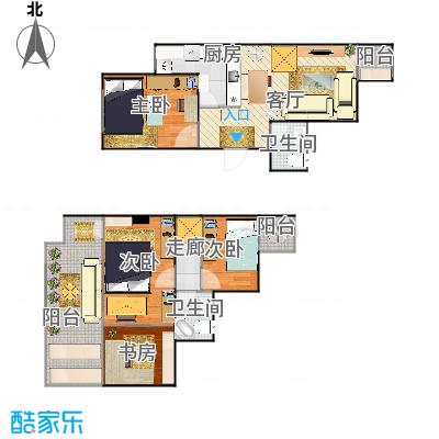 顶层跃层两室一厅-丰满版