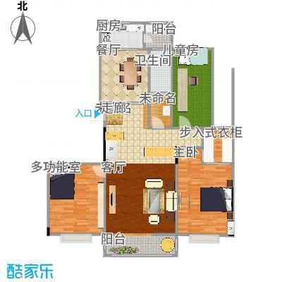 凤凰花园120方三室两厅两卫 - 副本