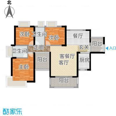保利未来城市138.00㎡3/5栋01户型3室1厅2卫1厨 - 副本