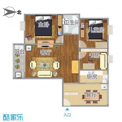 曼哈顿103方A4户型三室两厅 - 副本