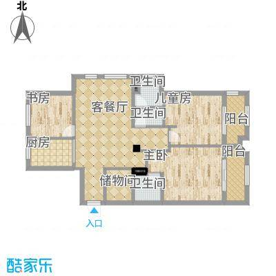 锦绣曙光107平户型两室两厅