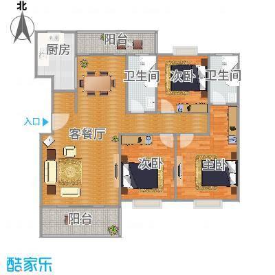 逸静园130.93方三房两厅两卫