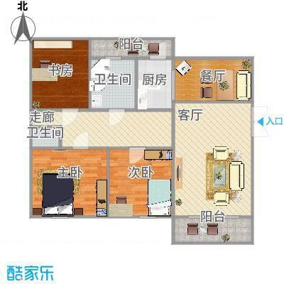 仪邦广场户型3室2卫1厨 - 副本