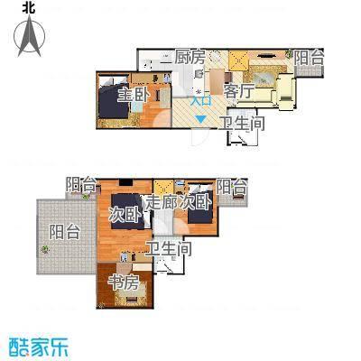 顶层跃层两室一厅-初始版