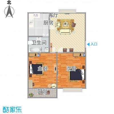 2房1厅1卫1阳
