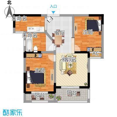 美林湖・水岸枫情94.00㎡B2户型2室2厅1卫 - 副本
