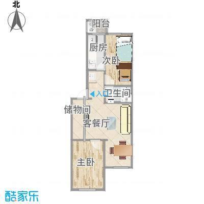 两室一厅尺寸图